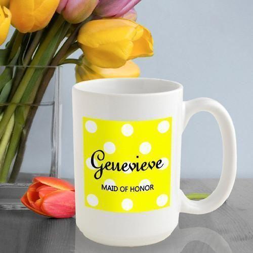 Personalized Polka Dots Coffee Mug