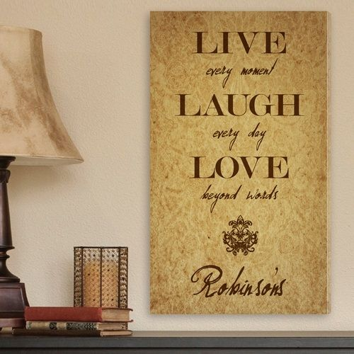 Personalized Canvas Sign - Live Every Moment