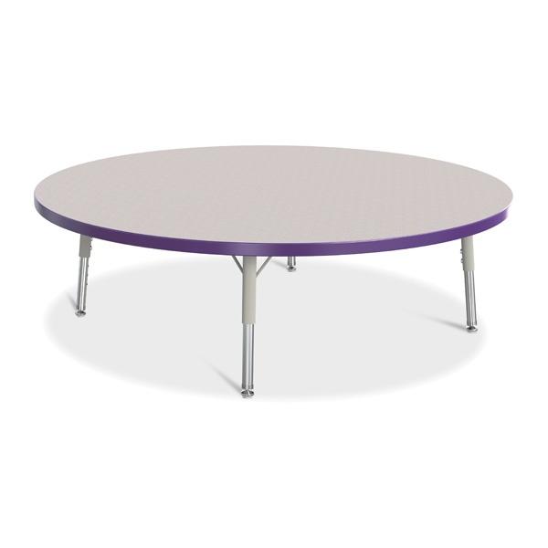 "Berries®Round Activity Table - 48"" Diameter, T-Height - Gray/Purple/Gray"