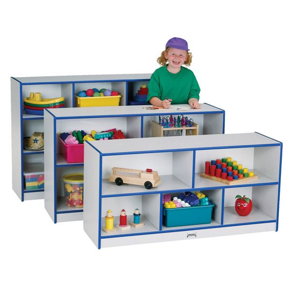 Rainbow Accents® Toddler Single Mobile Storage Unit - Yellow