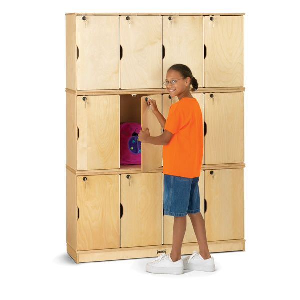 Jonti-Craft®Stacking Lockable Lockers - Triple Stack
