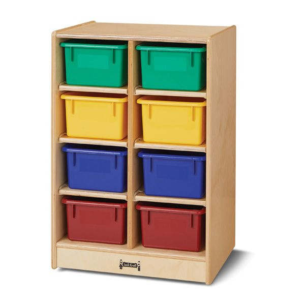 Jonti-Craft®8 Cubbie-Tray Mobile Unit - Without Trays