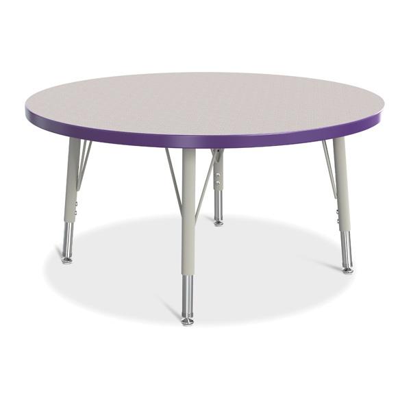 "Berries®Round Activity Table - 36"" Diameter, E-Height - Gray/Purple/Gray"