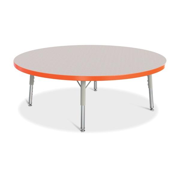 "Berries®Round Activity Table - 42"" Diameter, T-Height - Gray/Orange/Gray"