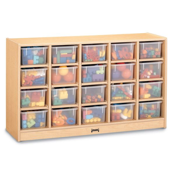 Maplewave®20 Cubbie-Tray Mobile Storage - Without Trays