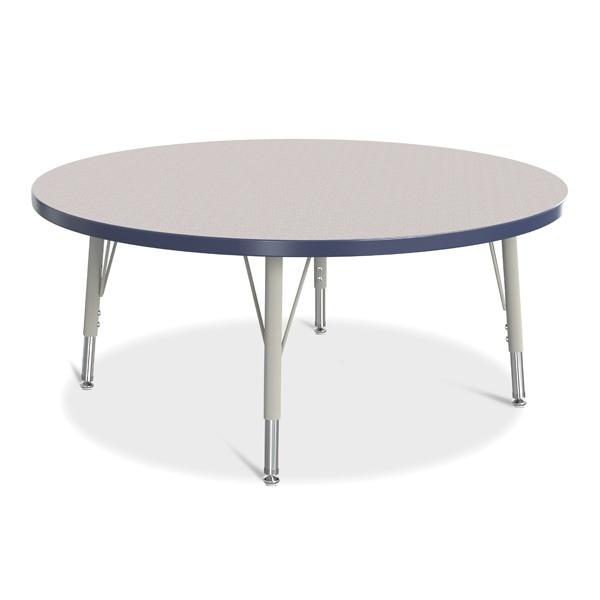 "Berries®Round Activity Table - 42"" Diameter, E-Height - Gray/Navy/Gray"