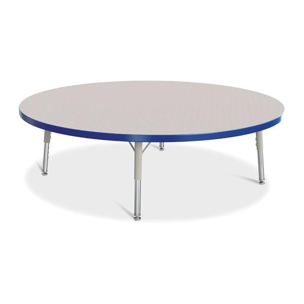 "Berries®Round Activity Table - 48"" Diameter, T-Height - Gray/Blue/Gray"