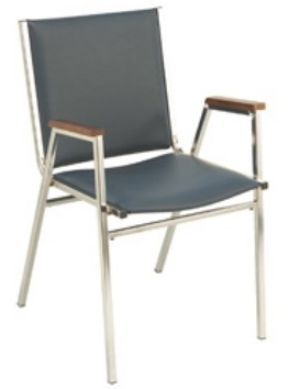 """KFI 411 """"400"""" Series 1"""" Seat Stack Chair with Grade 2 Fabric"""