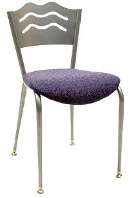 """KFI 3818LB-WS """"3800"""" Series Cafe Chairs with Wood Seat: Without Arms"""