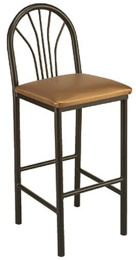 """KFI BR3721-WS """"3700"""" Series Cafe Chairs with Wood Seat"""