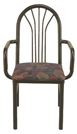 """KFI 3721-US """"3700"""" Series Cafe Chair with Upholstered Seat"""