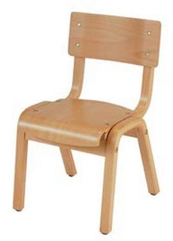 "KFI ""1100"" Series Chair: Natural, 16"" Seat Height"