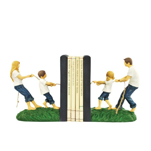 Forever In Blue Jeans Tug Of War Bookends Set, Pack Of 2