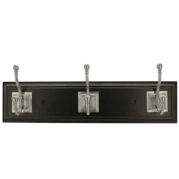 Franklin Brass Black & Satin Nickel Architectural Hook Rail, Pack Of 2