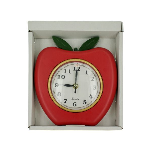 Red Apple Wall Clock, Pack Of 2
