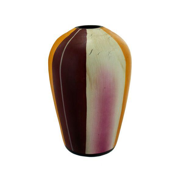 Striped Ceramic Vase, Pack Of 2