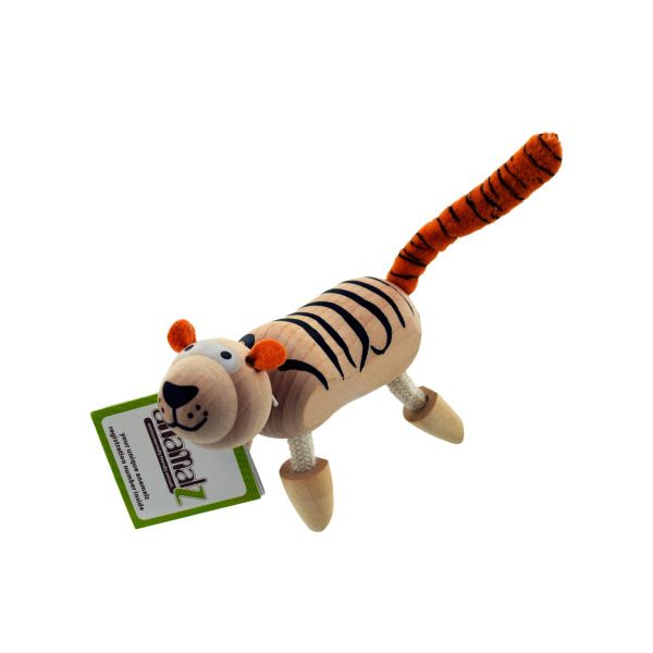 5Pk Wooden Tigers 14090