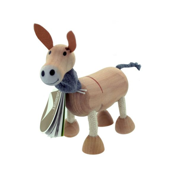 5Pk Wooden Donkeys 14097