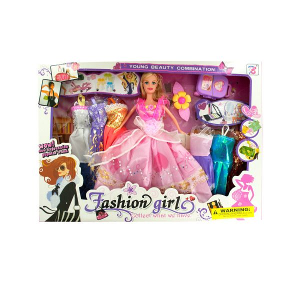 Fashion Doll With Large Wardrobe & Accessorie