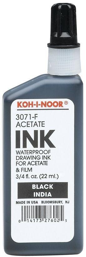 White 3/4 Fl. Oz. Kin Drawing Ink
