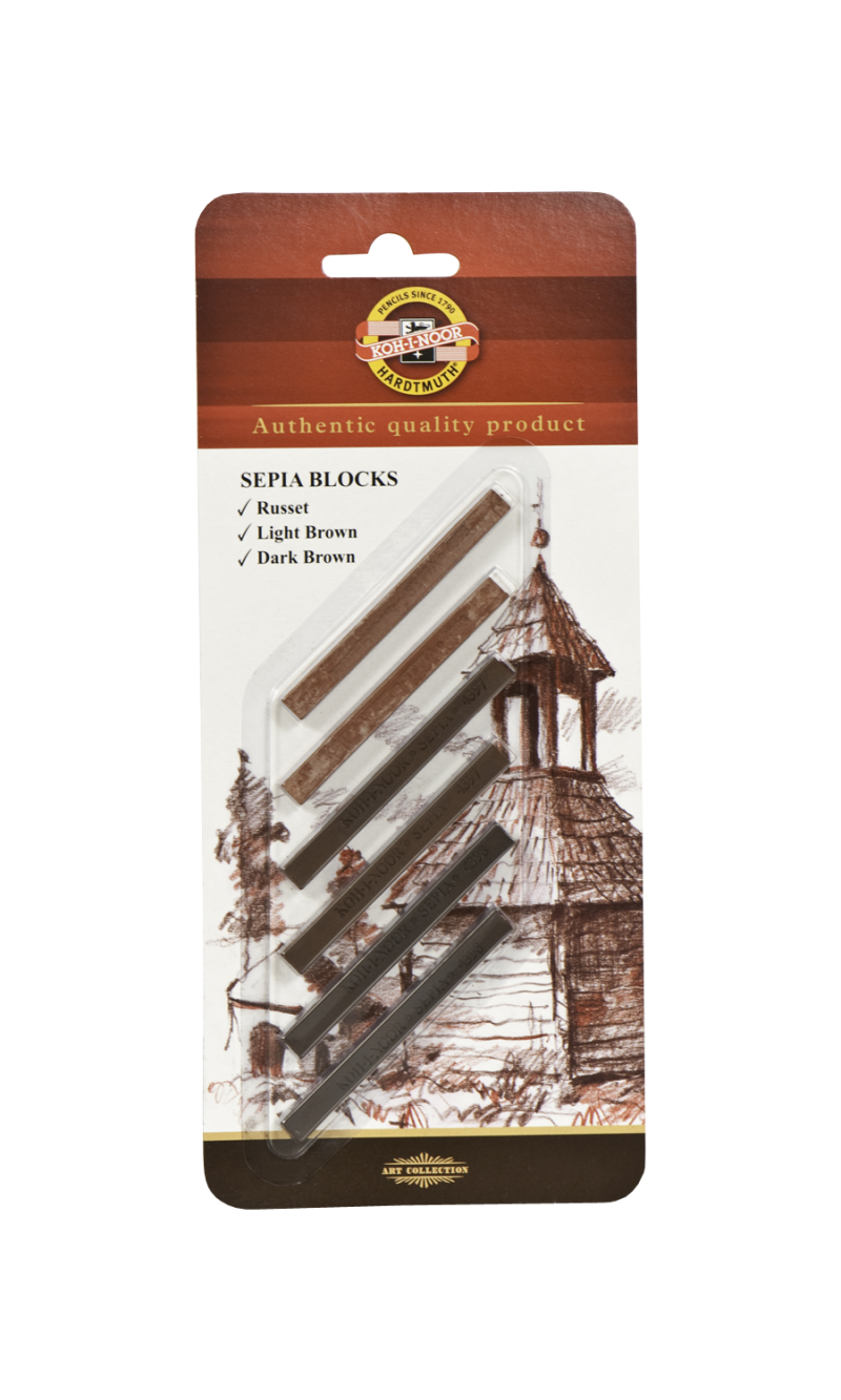 Sepia Blocks, 6 Pack, Carded