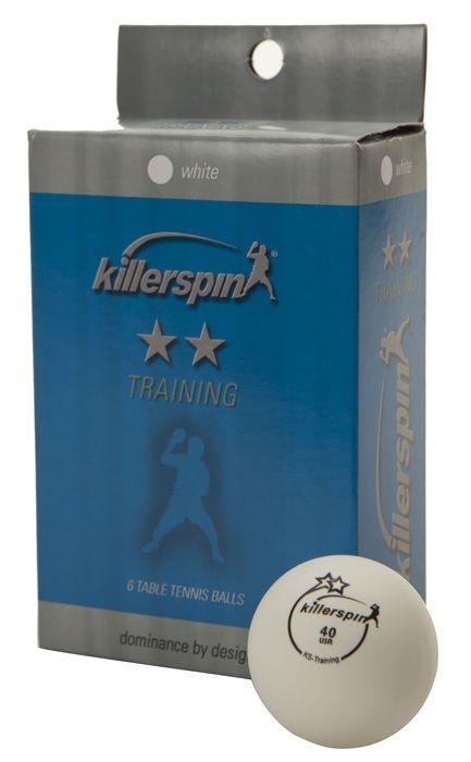 Killerspin Training 2 Star Balls: White, Pack of 6