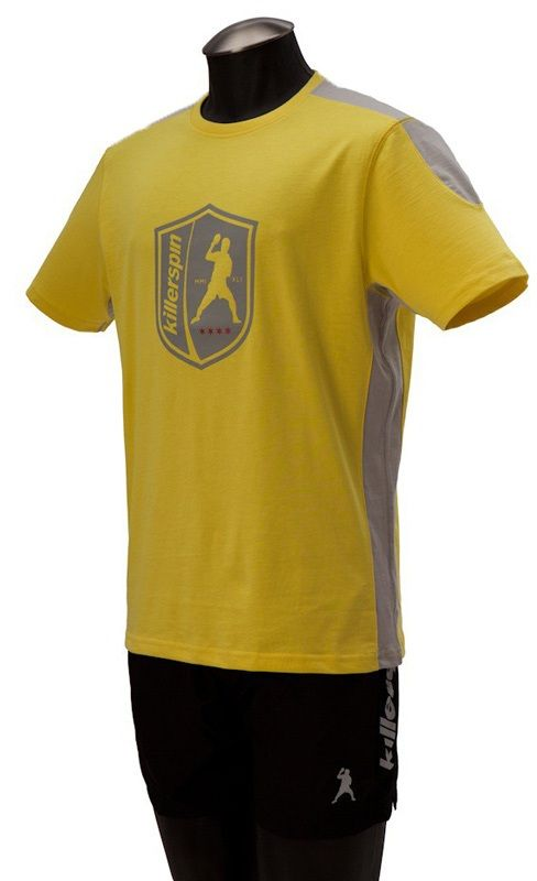 Killerspin The Steel Shield Shirt: Yellow/Grey, Large