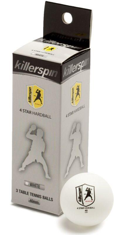 Killerspin 4 Star Balls: White, Pack of 3