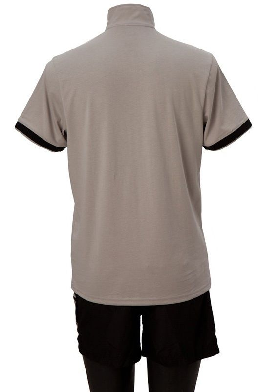 Killerspin Collar Boy Shirt: Grey/Black, Medium