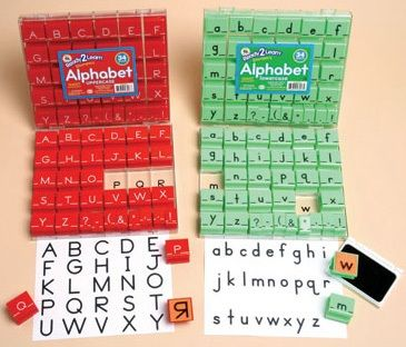 Ready 2 Learn Alphabet Stamps - Uppercase - Large - Set Of 34