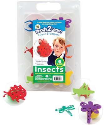 Ready 2 Learn Giant Stampers - Insects - Set 1 - Set Of 6