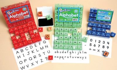 Ready 2 Learn Alphabet And Number Combo Stamp Sets - Small - Set Of 83
