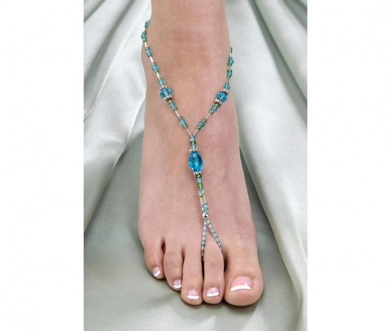 2 Aqua Barefoot Sandals Jewelry