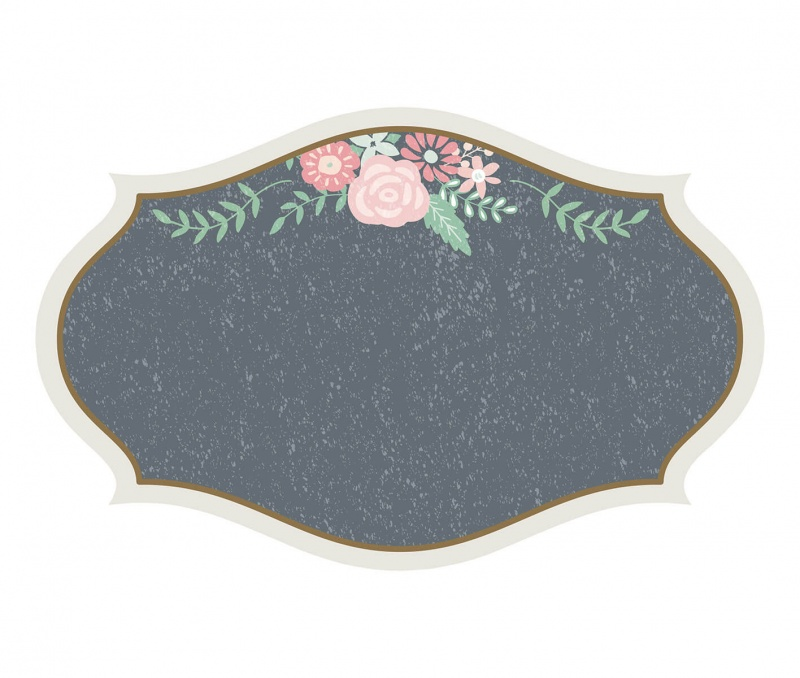 24 Small Vintage Chalkboard Glass Clings