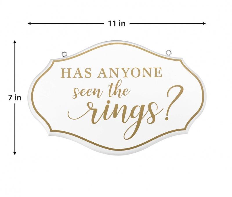 Ring Bearer Pillow Alternative Where Are The Rings Sign