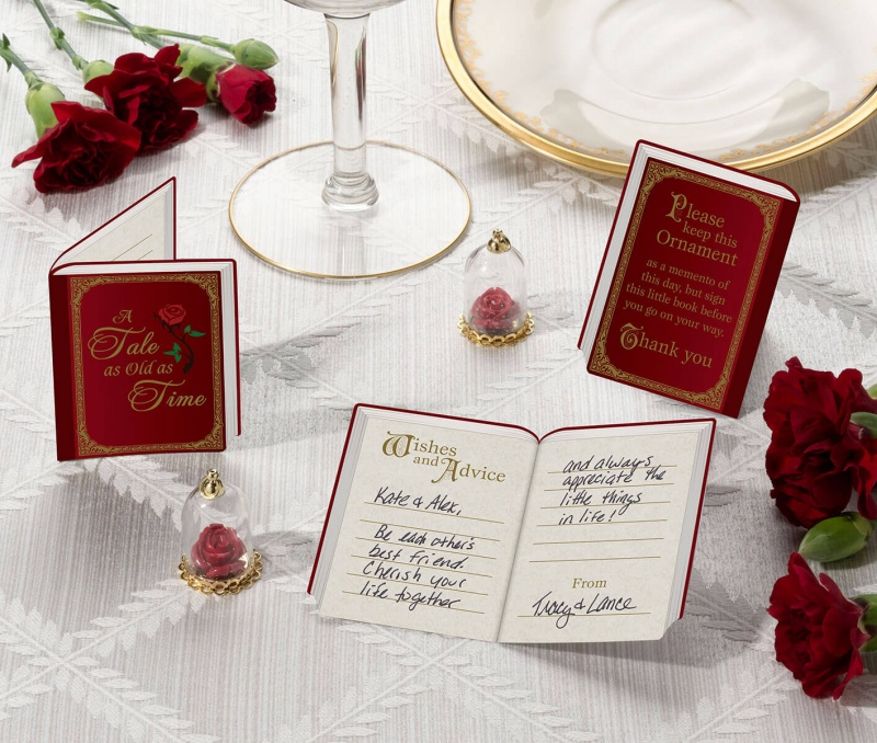 Fairy Tale Signing Cards & Rose Dome Favors