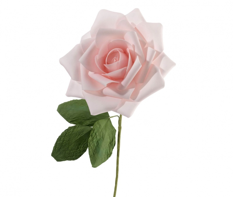 """10"""" Pink Stemmed Rose Decoration"""