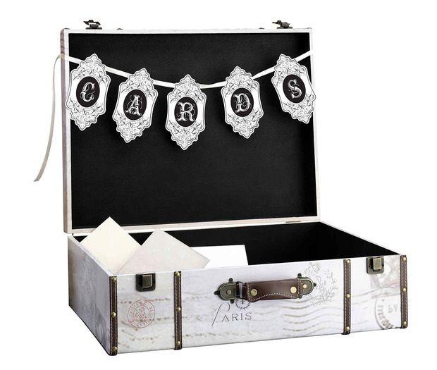 Vintage Suitcase Wedding Card Box