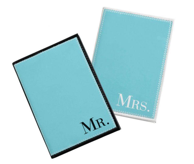 Mr. & Mrs. Aqua Passport Covers