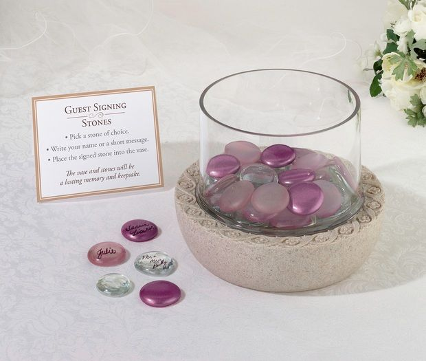 Assorted Purple Guest Signing Stones (approx 35)