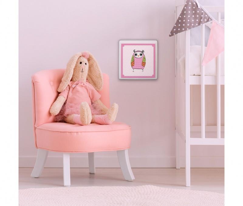 Pink Owl Baby Nursery Sign