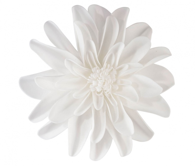 """Set Of 2 White 7.5"""" Flower Decorations"""