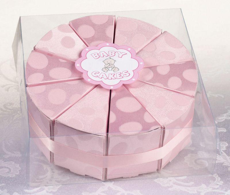 10 Pink Cake Slice Boxes