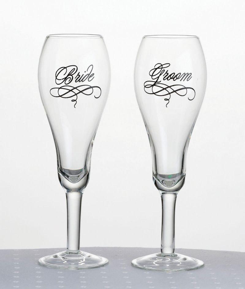 Bride & Groom Toasting Glasse