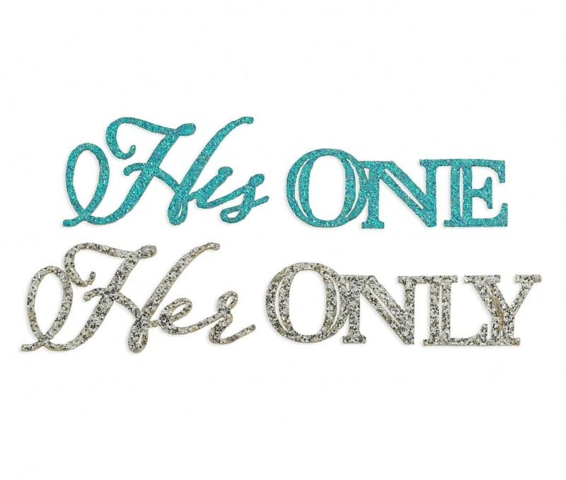 His One Her Only Wedding Shoe Sticker Set