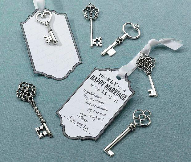 24 Vintage Silver Key Tags