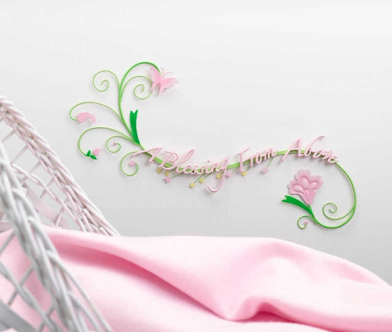 Butterfly Baby Wall Decoration