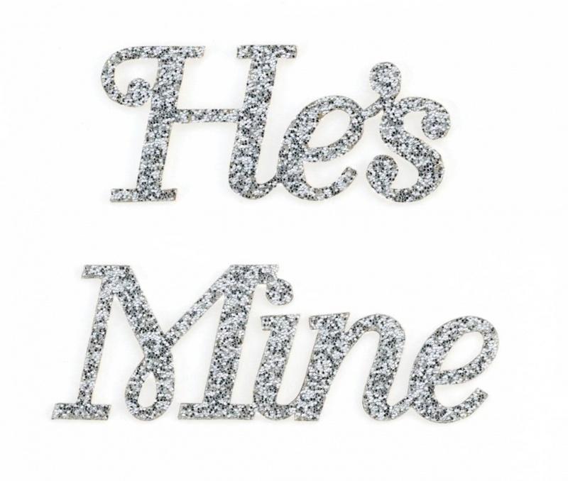 He's Mine Wedding Shoe Stickers