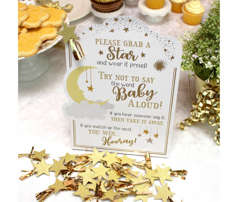 Twinkle Twinkle Little Star Theme Baby Shower Game Set