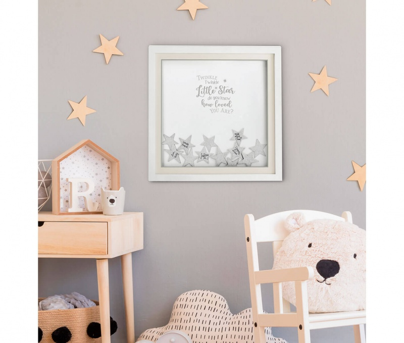 Twinkle Baby Shower Guest Signing Guest Book Alternative With 48 Stars